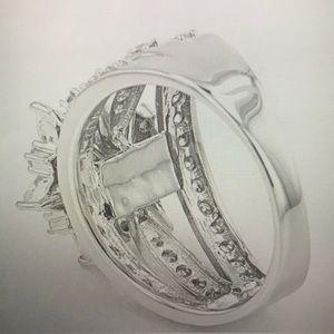 Lovemore CZ Diamond Floral Ring!